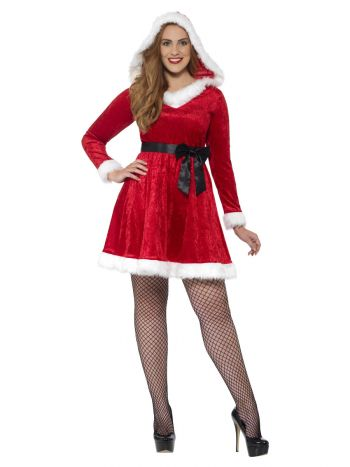 Curves Miss Santa Costume, Red