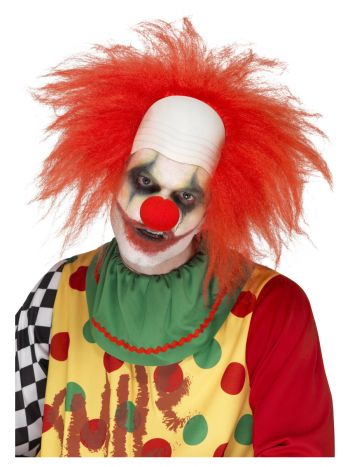 Deluxe Clown Wig, Red