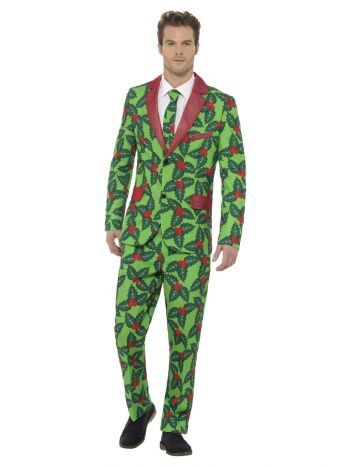 Holly Berry Suit, Red & Green