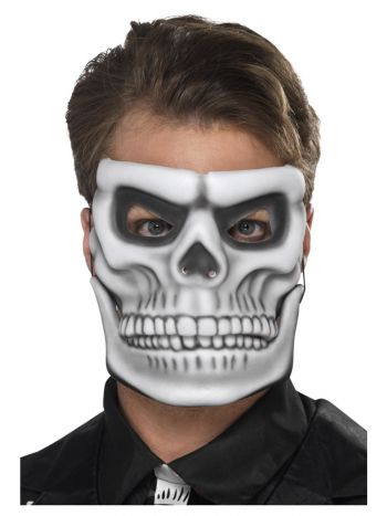 Day of the Dead Skeleton Mask, White
