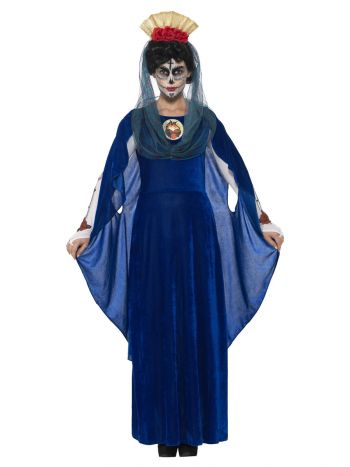 Day of the Dead Sacred Mary Costume, Blue