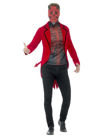 Day of the Dead Devil Costume, Red
