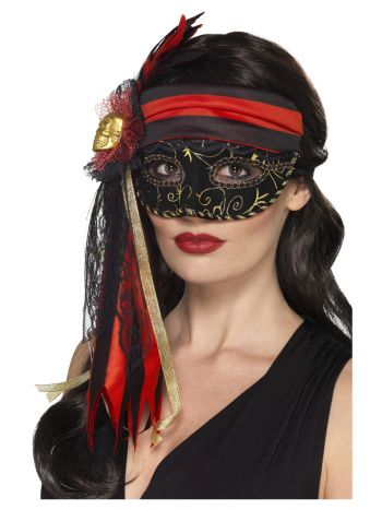 Masquerade Pirate Eyemask, Black