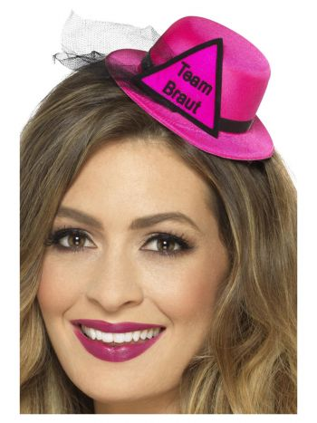 Team Braut Hat, Pink & Black