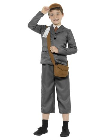 WW2 Evacuee Boy Costume, Grey