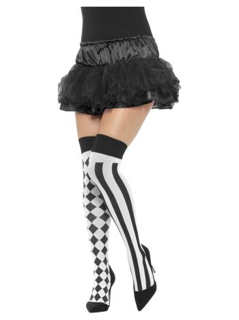 Harlequin Hold Ups, White & Black