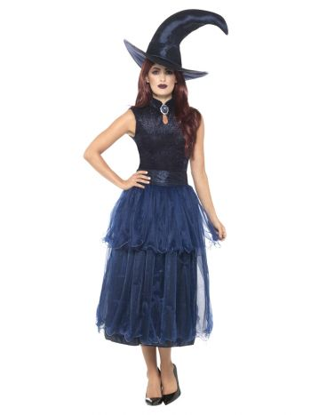 Deluxe Midnight Witch Costume, Blue