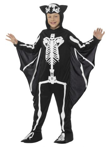 Bat Skeleton Costume, Black & White