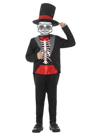 Day of the Dead Boy Costume, Black