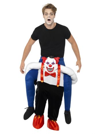 Piggyback Sinister Clown Costume, Blue