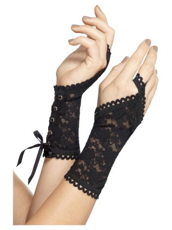 Lace Glovettes, Black