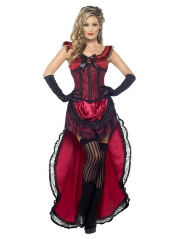 Deluxe Western Authentic Brothel Babe Costume, Bur