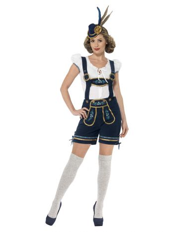Deluxe Traditional  Bavarian Costume, Blue