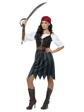 Pirate Deckhand Costume, Blue