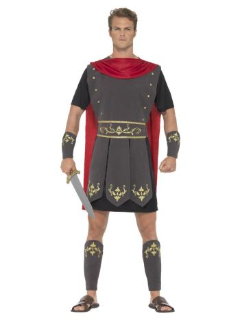Roman Gladiator Costume, Black