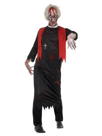 Zombie High Priest Costume, Black