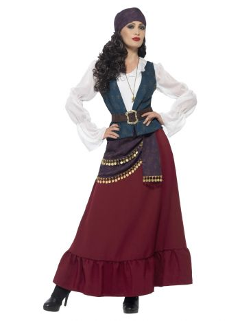 Deluxe Pirate Buccaneer Beauty Costume, Purple
