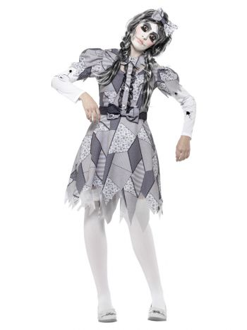 Damaged Doll Costume, Grey
