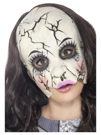 Damaged Doll Mask, Multi-Coloured