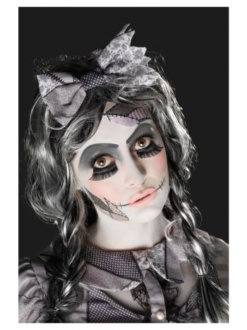 Smiffys Make-Up FX, Damaged Doll Kit, Aqua
