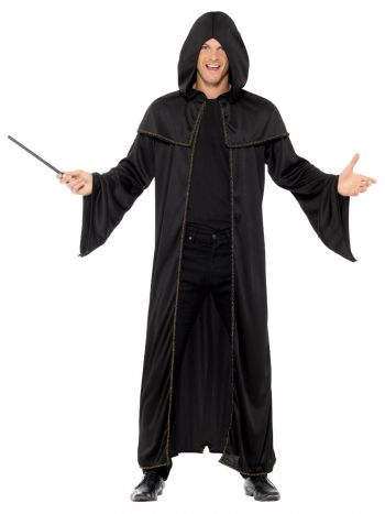 Wizard Cloak, Adult, Black