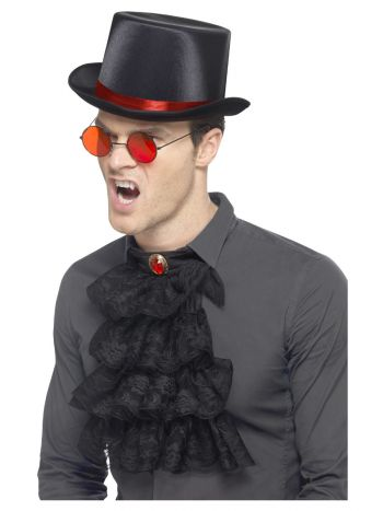 Gothic Kit, with Elastic Inner Rim Top Hat, Red &