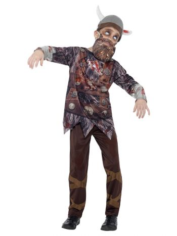 Deluxe Zombie Viking Costume, Brown
