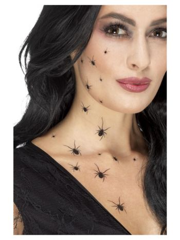 Smiffys Make-Up FX, Crawling Spider Transfers