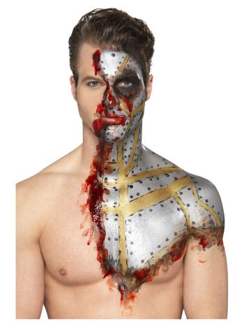 Smiffys Make-Up FX, Metallic Liquid Latex Kit, Gol
