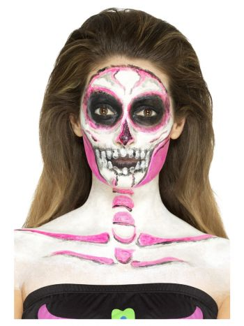 Smiffys Make-Up FX, Neon Skeleton Liquid Latex Kit