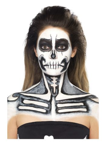 Smiffys Make-Up FX, Skeleton Liquid Latex Kit