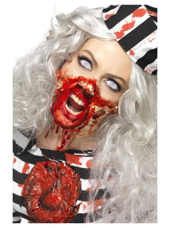 Smiffys Make-Up FX, Zombie Liquid Latex Kit, Assor