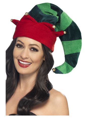 Plush Elf Hat, Green