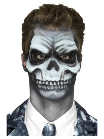 Smiffys Make-Up FX, Foam Latex Skull, White