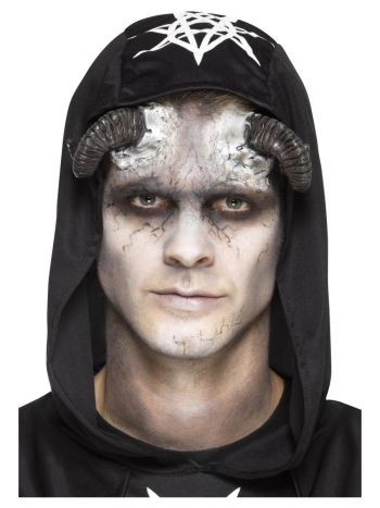 Smiffys Make-Up FX, Latex Demon Horn Prosthetics,