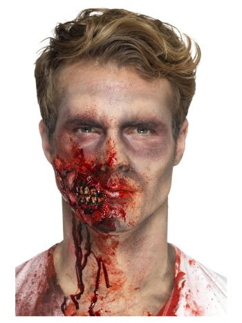 Smiffys Make-Up FX, Latex Zombie Jaw Prosthetic, R