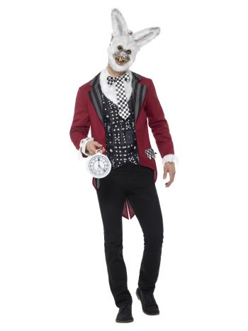 Deluxe White Rabbit Costume, Red