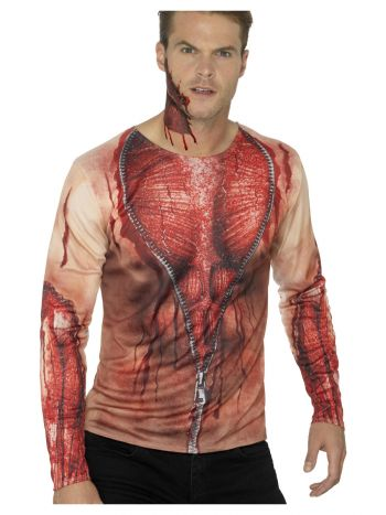 Ripped Skin T-Shirt, Flesh
