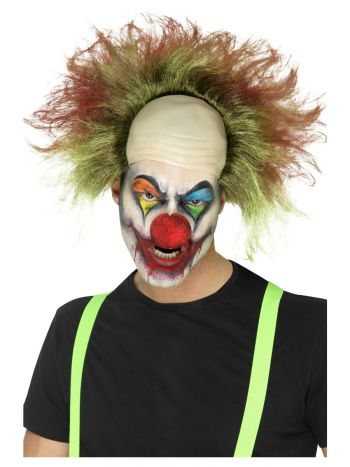 Sinister Clown Wig, Green