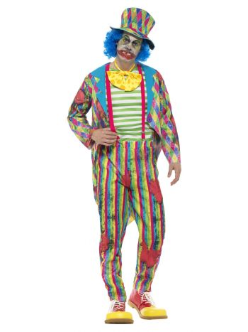 Deluxe Patchwork Clown Costume, Male