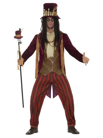 Deluxe Voodoo Witch Doctor Costume, Red