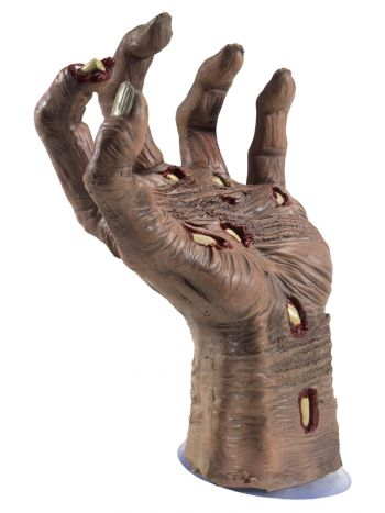 Latex Rotting Zombie Hand Prop, Natural