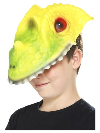 Crocodile Head Mask, Green & Yellow