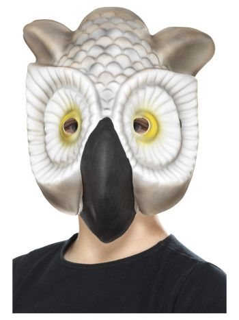 Owl Mask, Grey & White