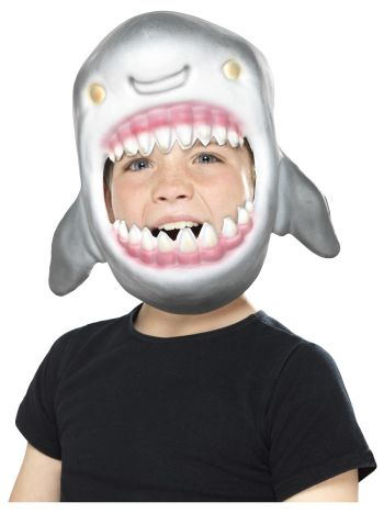 Shark Full Head Mask, Grey