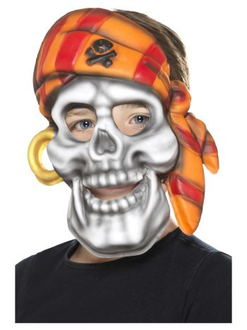 Pirate Skull Mask, Multi-Coloured