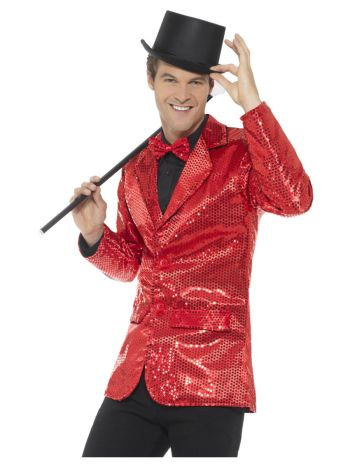 Sequin Jacket, Mens, Red