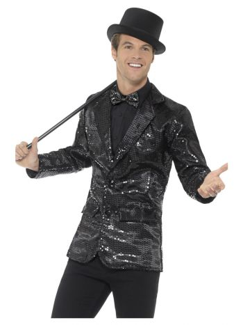 Sequin Jacket, Mens, Black