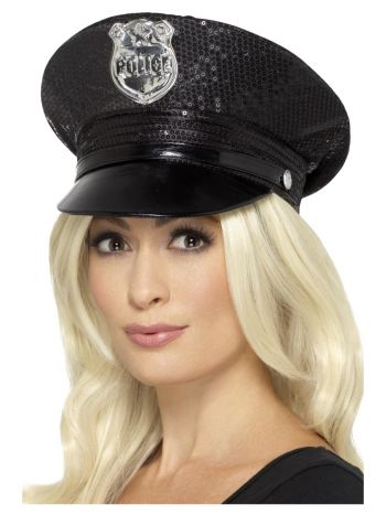 Fever Sequin Police Hat