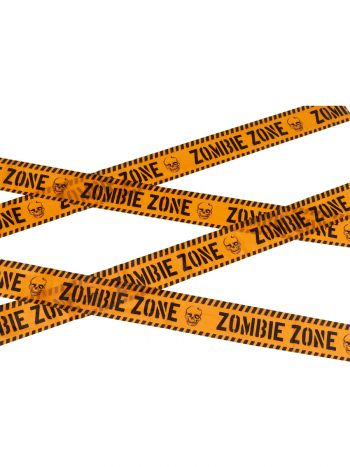 Zombie Zone Caution Tape, Orange & Black